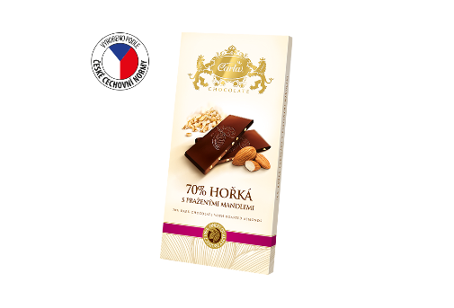 Carla 70% dark chocolate with roasted almonds